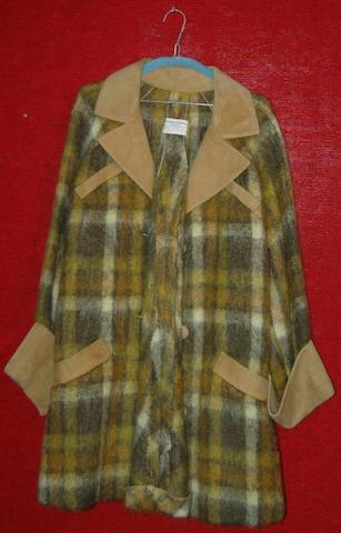 Ingrid Bergman from Waters Of The Moon, 1983 A green and yellow checked mohair coat