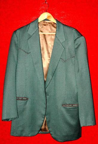 Michael Caine, from an unknown production, dated October 1997 A green patterned jacket,