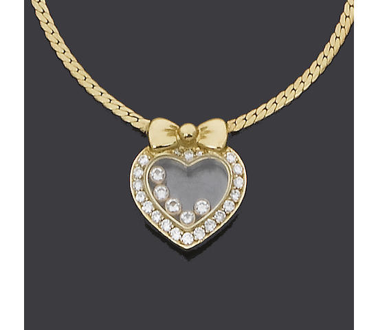 A diamond pendant/necklace, by Chopard (see illustration)