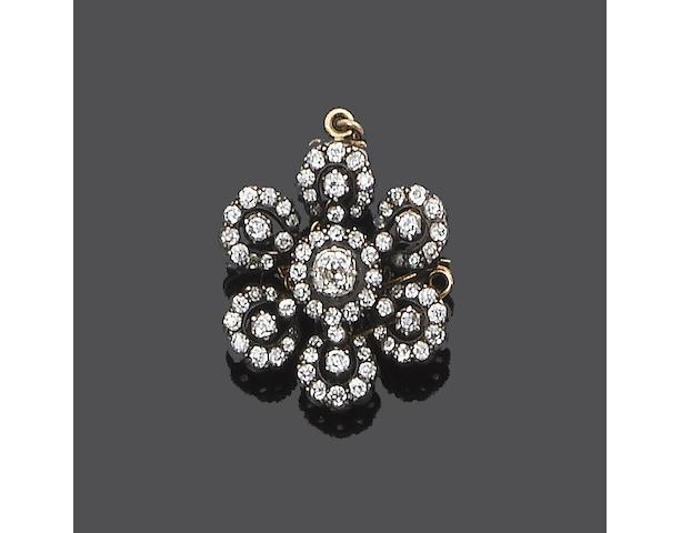A diamond brooch (see illustration)