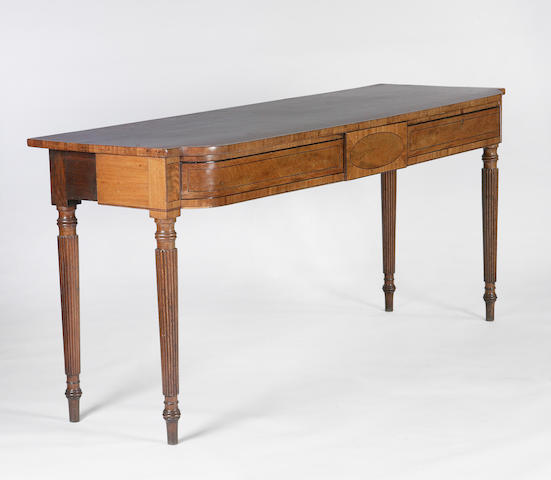 A Regency mahogany breakfront serving table