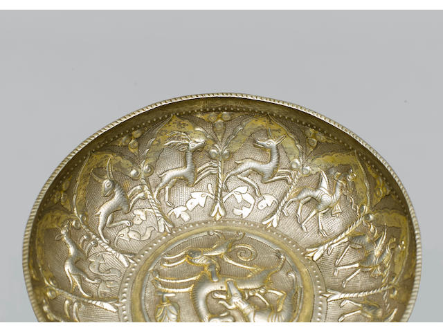 A rare and important Ottoman parcel-gilt silver Bowl The Balkans, circa 1550