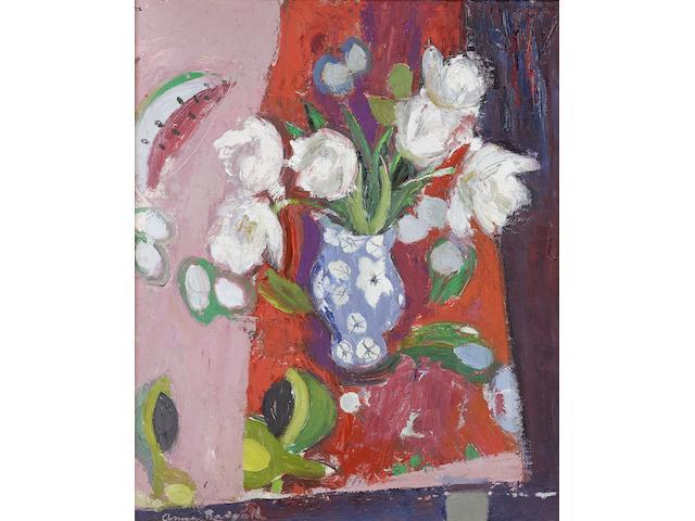Anne Redpath, OBE RSA ARA LLD ARWS ROI RBA (British, 1895-1965) White tulips