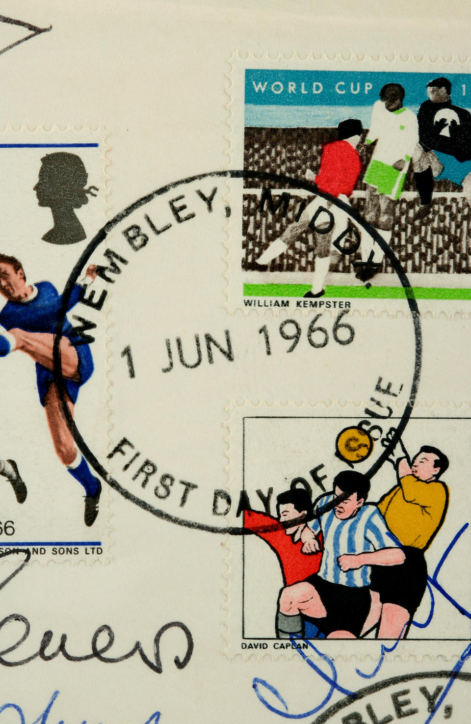 A fully signed 1966 World Cup First Day Cover
