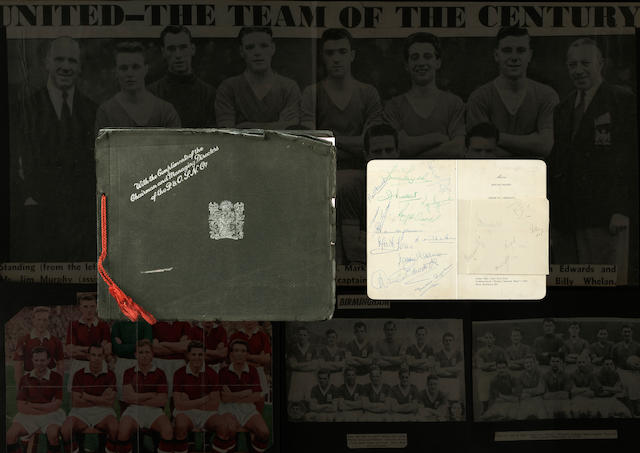 An interesting collection of 1957 Manchester United Ephemera