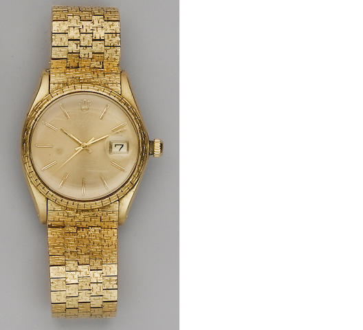 Rolex. An 18ct gold automatic calendar watch London Import mark for 1969
