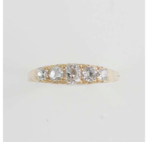 A five stone diamond ring,