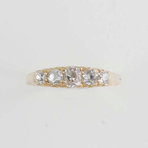 A five stone diamond ring,