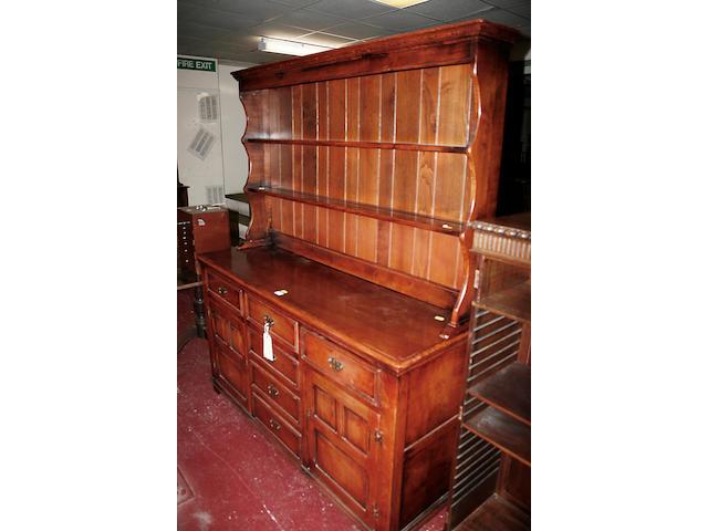 A George III style oak dresser