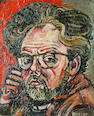 John Bratby R.A. (British, 1928-1992) Self portrait, 1956