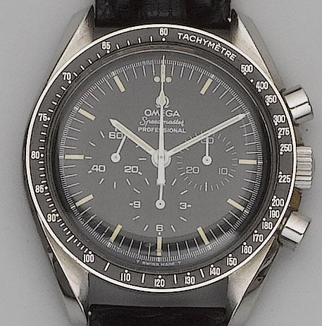 Omega. A stainless steel chronograph wristwatch Speedmaster, 1979