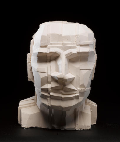 Sir Eduardo Paolozzi (British, 1924-2005) Head Plaster cast, 1993, signed and dated in pencil, from an edition of unknown size; 330mm (13in)