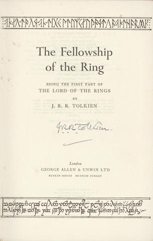 TOLKIEN (J.R.R.) The Fellowship of the Rings; The Two Towers; The Return of the King