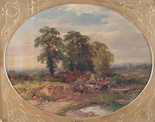 """John Syer, RI (British, 1815-1885) """"Near Keynsham"""""""