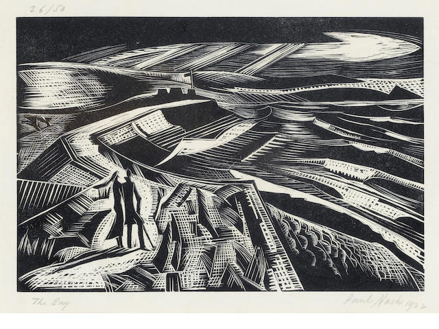 Paul Nash (British, 1889-1946) The Bay Woodcut, 1923, on wove, signed, dated, titled and numbered 26