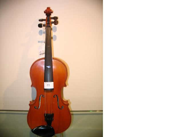 A small size Mirecourt Violin  circa 1900