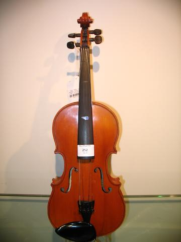 A small size Mirecourt Violin  circa 1900