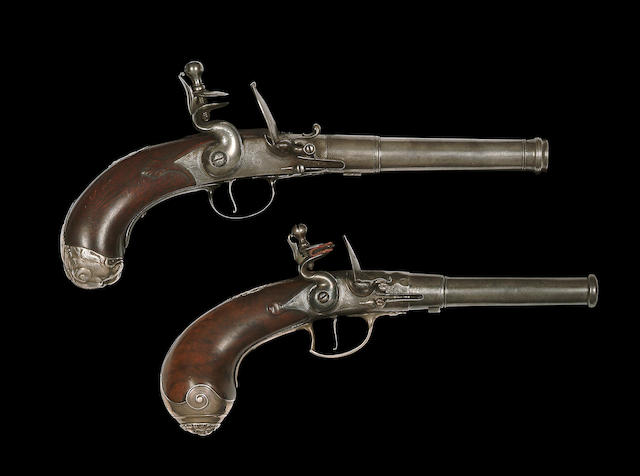 A Fine 25-Bore Flintlock Turn-Off Pistol