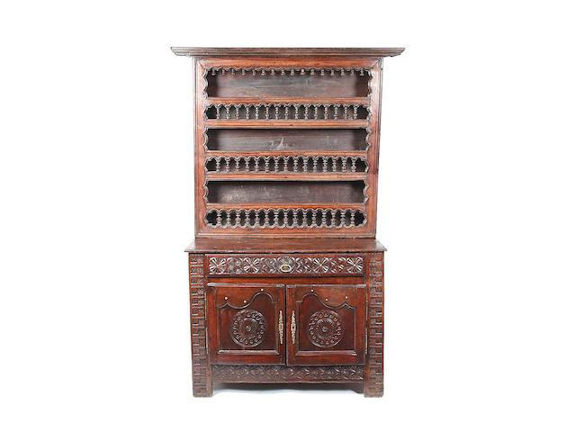A Continental fruitwood dresser