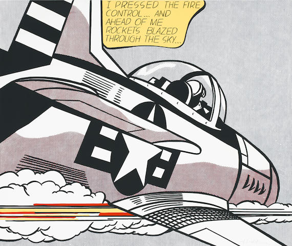 Roy Lichtenstein (American, 1923-1997) Whaam Offset lithographic poster, printed in colours, 1967, o