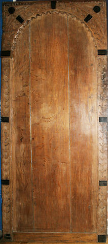 An oak internal door