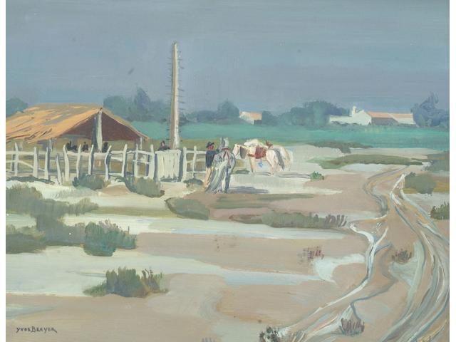 "Yves Brayer (French, 1907-1990) ""Paysage de Camargue"","