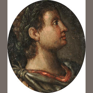Italian School, 18th Century Portrait of a Roman emperor in profile; and A portrait of a Roman emperor in profile 10 x 9 cm. (3 7/8 x 3½ in.) (3)