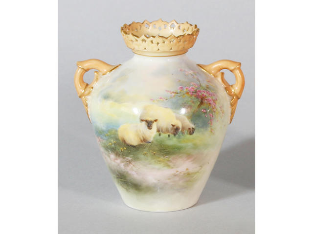 A Royal Worcester vase by Harry Davis