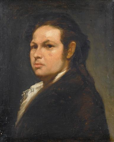 Manner of Francisco José de Goya y Lucientes, 19th Century Portrait of Francisco Goya, 53.3 x 43.8cm (21 x 17¼ in.)