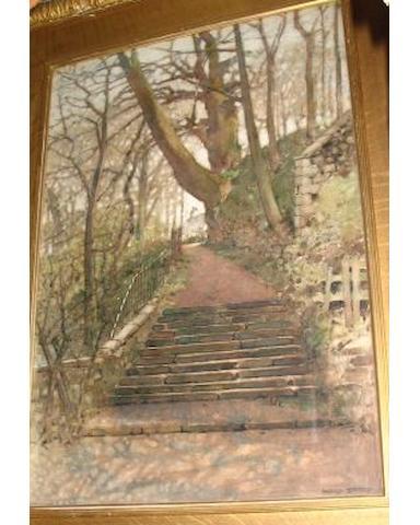 Harold Storey (Scottish, 1888-1965) The old world re-awakening - Snuff Mull Bridge, Cathcart