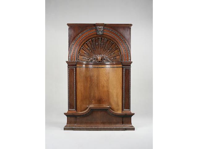 An impressive late 19th/early 20th cent century mahogany corner niche
