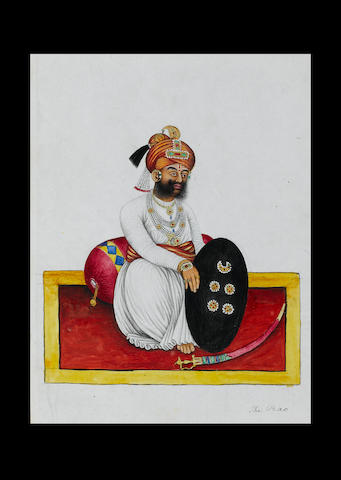 An album of forty-two watercolours depicting figures in costume Kutch, circa 1850