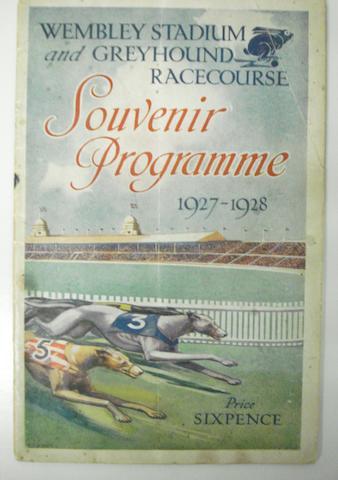 Wembley stadium greyhound programme 1927/8