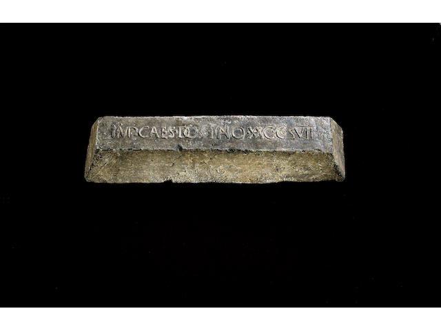 A Roman lead 'pig' or ingot