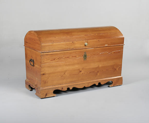 A North European late 19th century pine chest