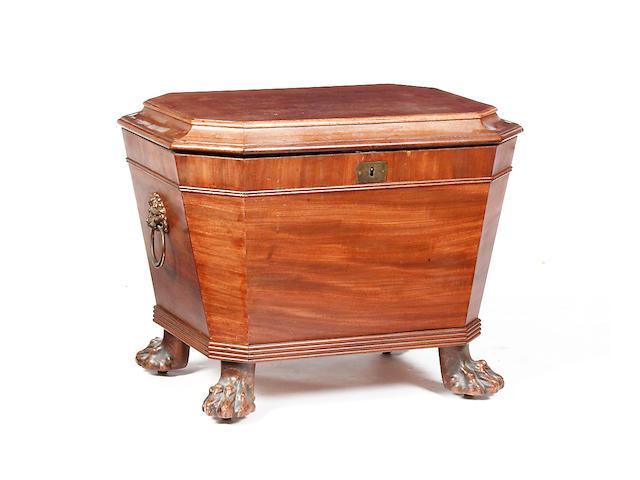 An early 19th Century mahogany wine cooler
