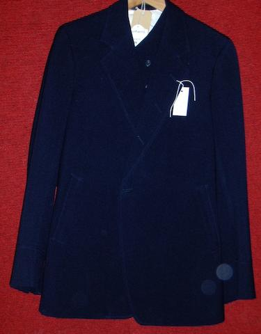 George Burns from an unknown production A blue three piece blue suit,