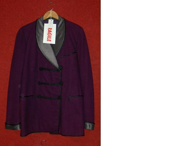David Jansen from S.O.S Titanic, 1979 A purple smoking jacket and a blue wool suit as worn by an unknown actor,