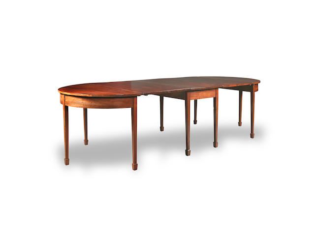 A George III mahogany D-end dining table