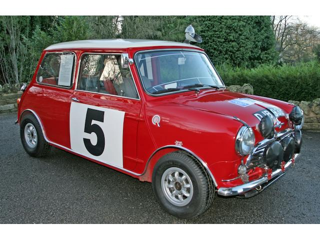 1965 RAC Rally and 1966 Scottish winner,1964 Mini Cooper 1275S Ex-Works Rally Saloon  Chassis no. CA2S7/662044 Engine no. 9F-SA-Y/34709