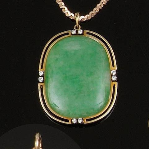 A jadeite pendant
