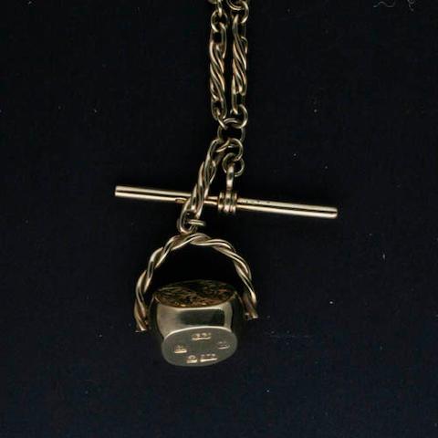 A modern 9ct gold Albert chain