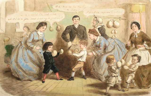 John Leech (British, 1817-1864) Physical education