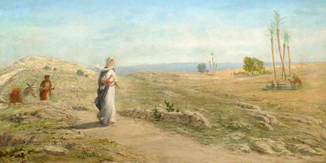 John Rogers Herbert (British, 1810-1890) Approaching the oasis