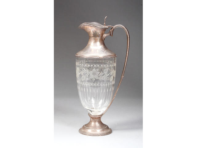 A modern claret jug J.A.C.makers mark, Sheffield 1993,