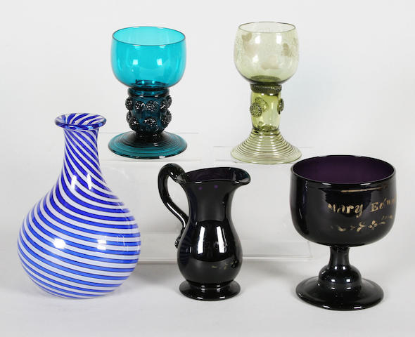 Five items of glassware