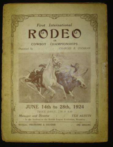 Rodeo programmes Wembley, 1924