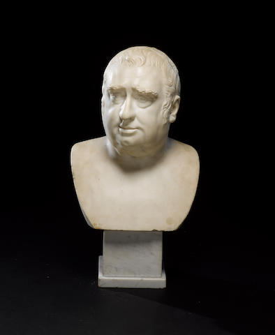 Charles James Fox (1749-1806) Marble portrait bust, by the Studio of Joseph Nollekens