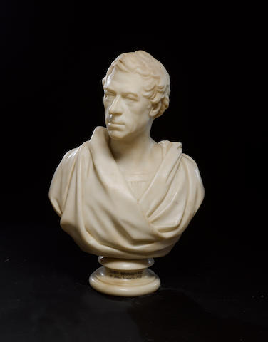 Henry Brougham (1778-1868) Marble portrait bust by John Francis (1780-1861)