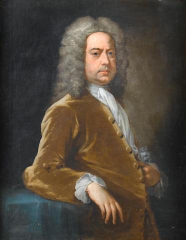 Studio of Sir Godfrey Kneller (Lübeck 1646-1723 London) Portrait of gentleman, said to be Henry Rogers, 92.6 x 71 cm. (36½ x 28 in.)
